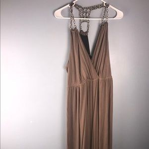 FOREVER 21 Maxi dress w chain as strap, 2x